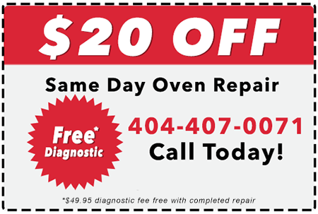 Coupon for Oven Repair in Atlanta